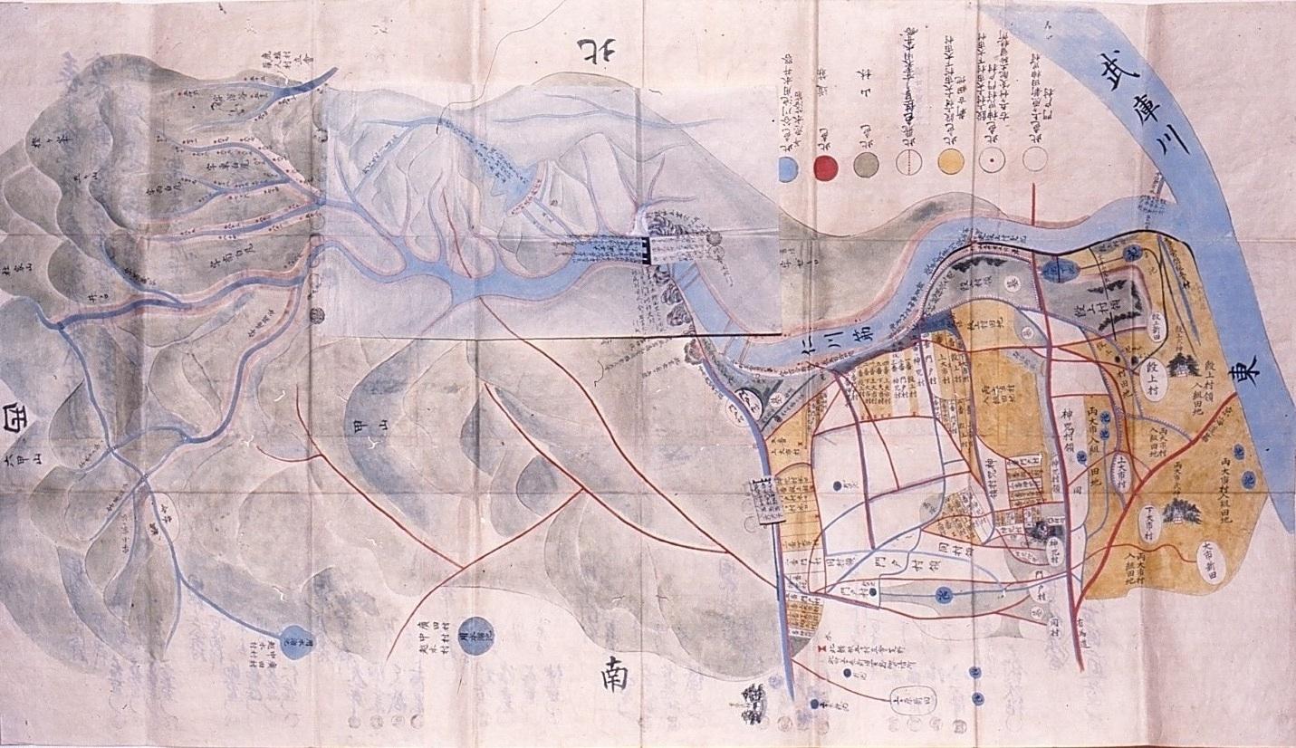 大井滝用水論所絵図